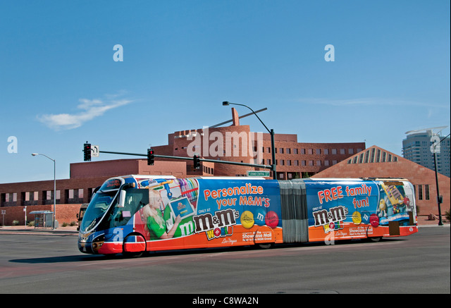 Las Vegas Clark County Government Center  United States Nevada public, transportation bus local - Stock Image