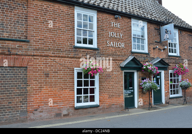 Jolly Sailor Pub Orford England - Stock Image