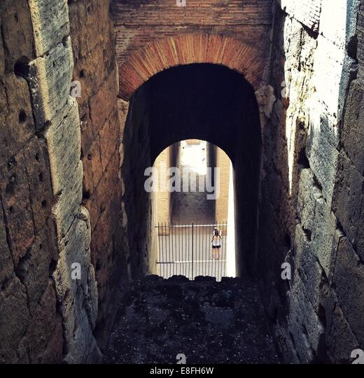 Rome, Colosseum, Archway - Stock Image