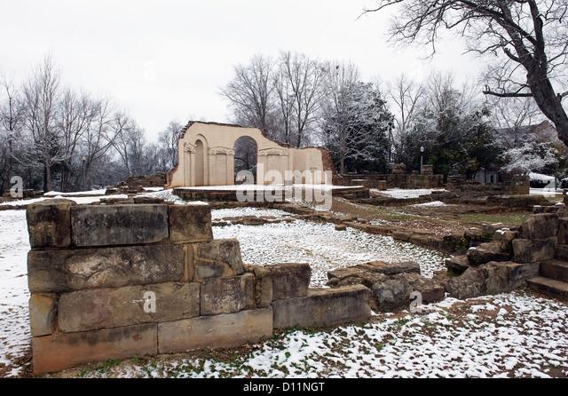 Ruins Of The Capital Building; Tuscaloosa Alabama United States Of America - Stock Image