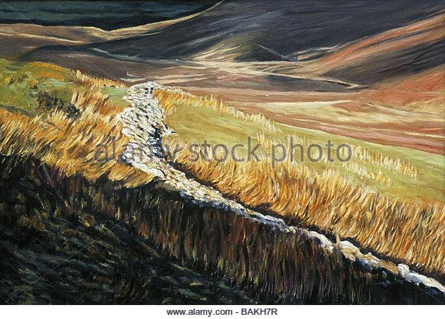 Grass by Stream - Stock-Bilder