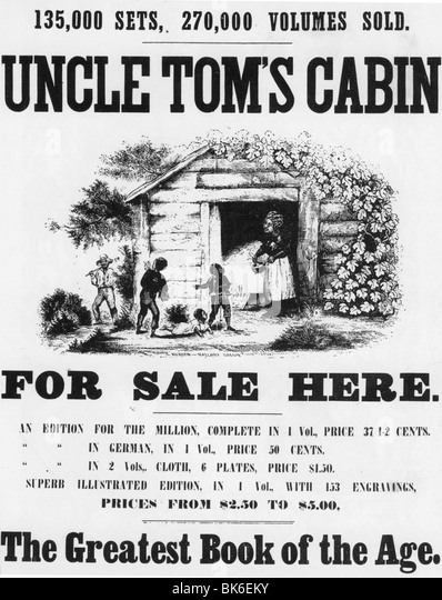 Exceptionnel UNCLE TOMu0027S CABIN   Posterfor The Novel By Harriet Beecher Stowe First  Published In 1852.