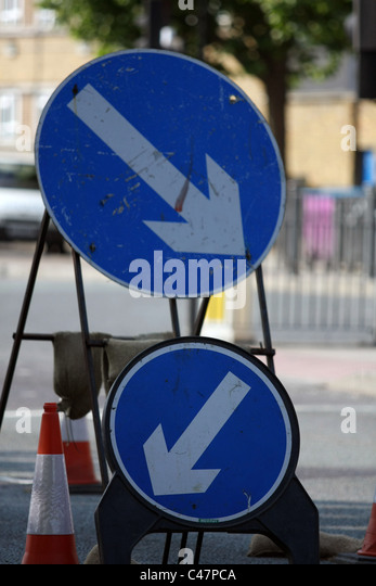 Signs Keep Left Stock Photos Amp Signs Keep Left Stock