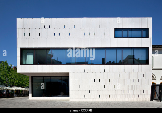 Hessian State Parliament building, extension with the new Plenary Chamber Hall, Wiesbaden, Hesse, Germany, Europe, - Stock Image