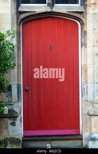 Red Doors Stone : Number front door stock photos