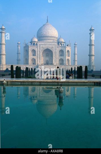 Taj Mahal, Wasserbecken, Agra Uttar Padesh, Indien - Stock-Bilder