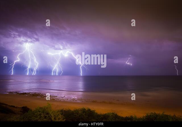 Lightning - Australia - Stock Image