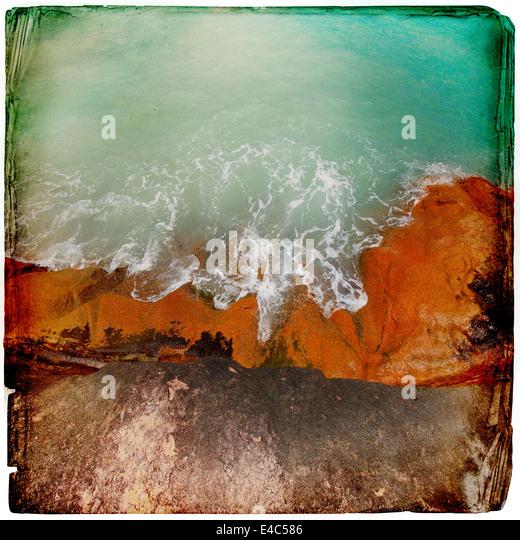 Granite rocks in the water background - Stock-Bilder