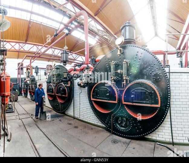 coal boiler steam engine stock photos coal boiler steam. Black Bedroom Furniture Sets. Home Design Ideas