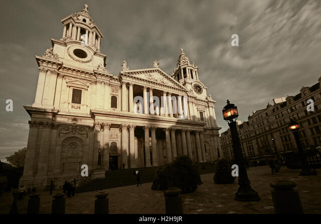 St Pauls Cathedral London in the evening - Stock Image
