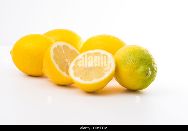 Lemons-cut-out - Stock Image