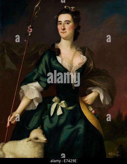 Mary Sylvester - by Joseph Blackburn, 1754 - Stock Image