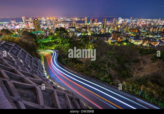 Kobe, Japan city skyline - Stock Image