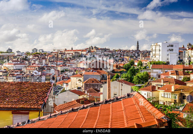 Porto, Portugal old town skyline. - Stock-Bilder