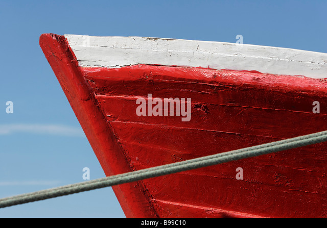Prow of boat, extreme close-up - Stock Image
