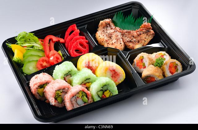 sushi takeaway stock photos sushi takeaway stock images alamy. Black Bedroom Furniture Sets. Home Design Ideas