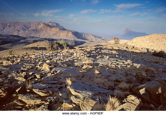 Mountain views from Jebel Shams, Oman. - Stock Image
