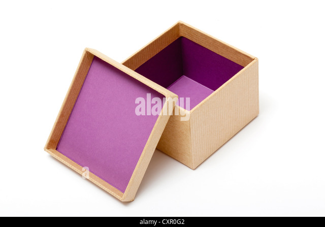 Open gift box - Stock Image