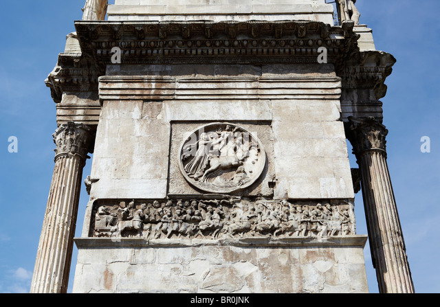 The Arch of Constantine (Arco di Costantino) in Rome, Italy - Stock Image