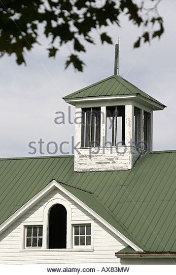West Virginia Lewisburg horse stable - Stock Image