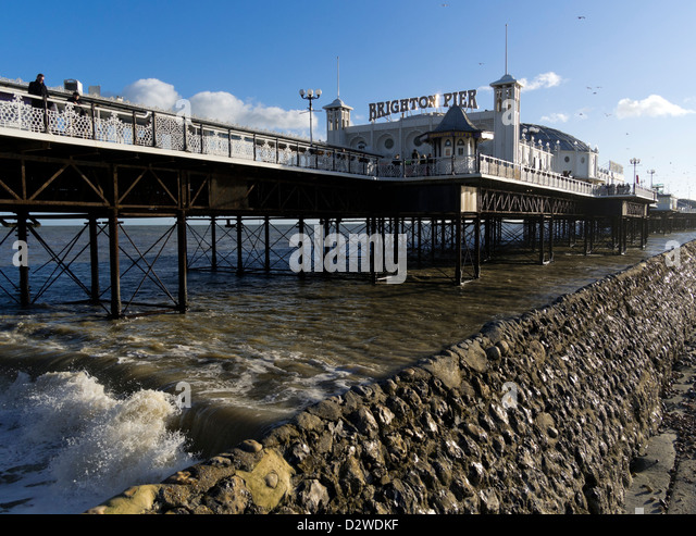 Brighton Pier, East Sussex, UK - Stock Image