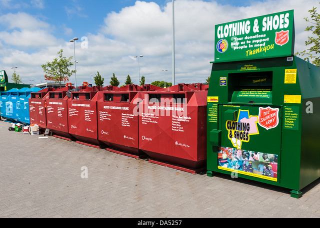 Christmas Tree Recycling Gloucester : Collection point stock photos
