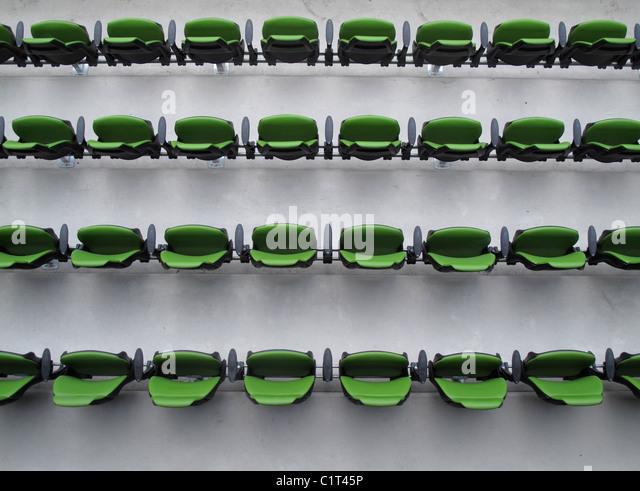 Stadium seating - Stock Image