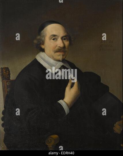 Portrait of a man, probably Pieter Anthonisz van Bronckhorst (1588-1661), Anthonie Palamedesz., 1652 - Stock Image