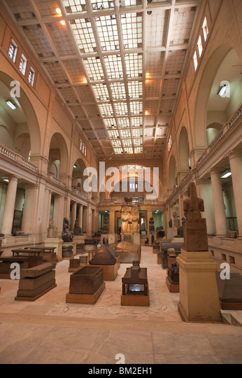 The Egyptian Museum, Cairo, Egypt - Stock Image