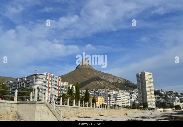 Landscape view of Sea point at Cape town - Stock Image