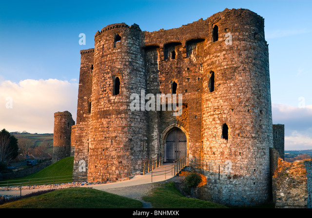 Kidwelly Castle Carmarthenshire Wales - Stock-Bilder
