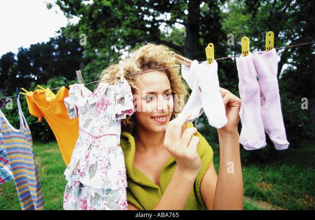 Motherhood tasks - Stock Image