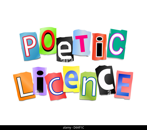 Poetic licence. - Stock Image