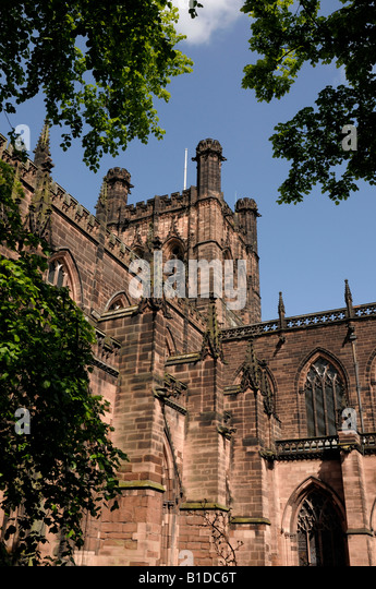 Chester Cathedral Chester City centre - Stock-Bilder