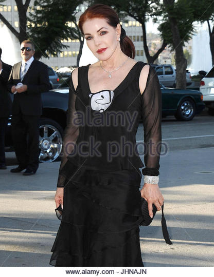 Priscilla Presley. Priscilla Presley leaves an event in downtown Los Angeles. - Stock Image