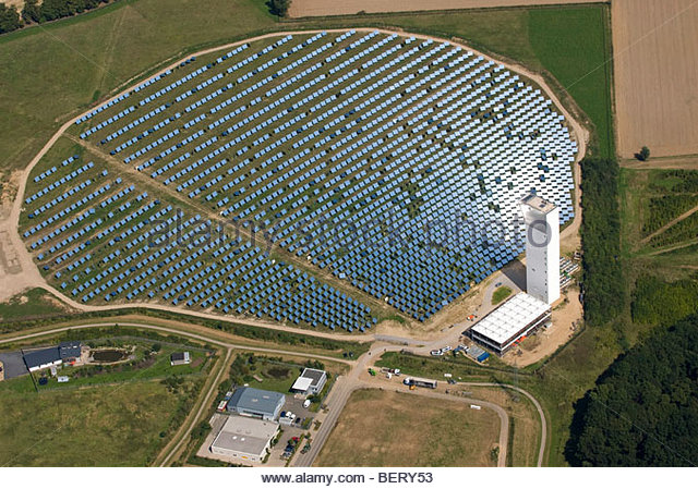 solar thermal energy power plant - Stock Image