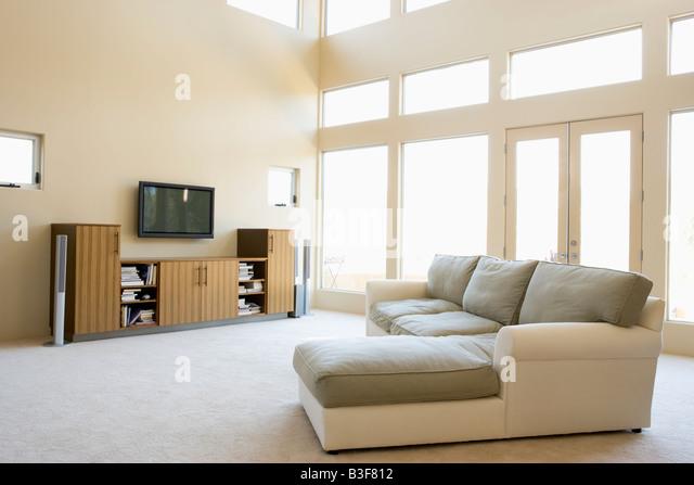 Empty living room - Stock Image