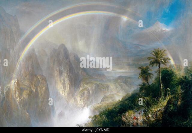 Frederick Edwin Church, Rainy Season in the Tropics 1866 Oil on canvas. Fine Arts Museums of San Francisco, USA. - Stock-Bilder