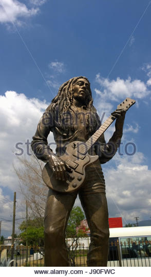 Statue Of Bob Marley In Kingston Jamaica - Stock-Bilder