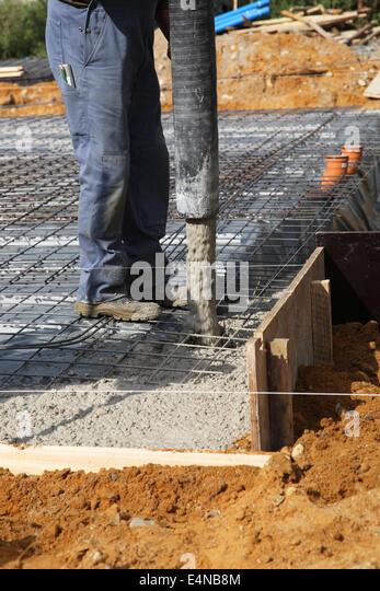 Concrete foundations stock photos concrete foundations for Poured foundations