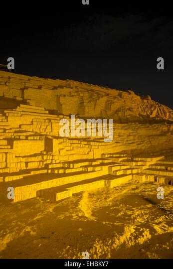 Huaca Pucllana,, pyramid,Lima, Peru - Stock Image