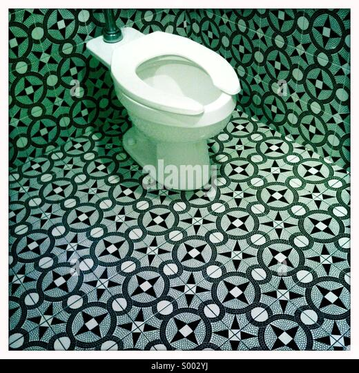 Inside a bathroom with exotic tiles - Stock Image