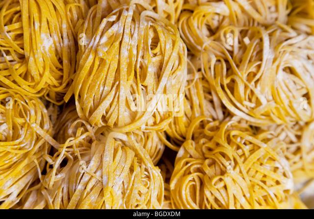 Linguine pasta, Bologna, Emilia Romagna, Italy - Stock Image