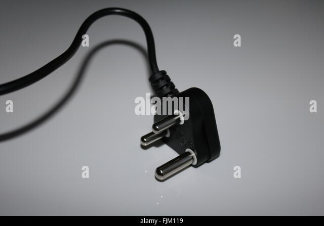 DC 3 point power plug south africa - Stock Image