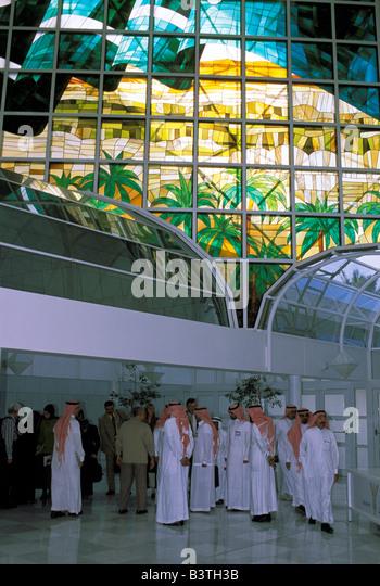 Asia, Saudi Arabia, Riyadh. Inside King Fahid Cultural Center. - Stock Image