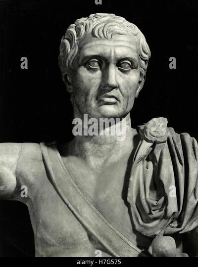 Statue of Pompay, Palazzo Spada, Rome, Italy - Stock Image