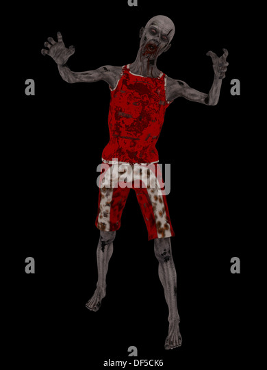 Zombie on black - Stock Image