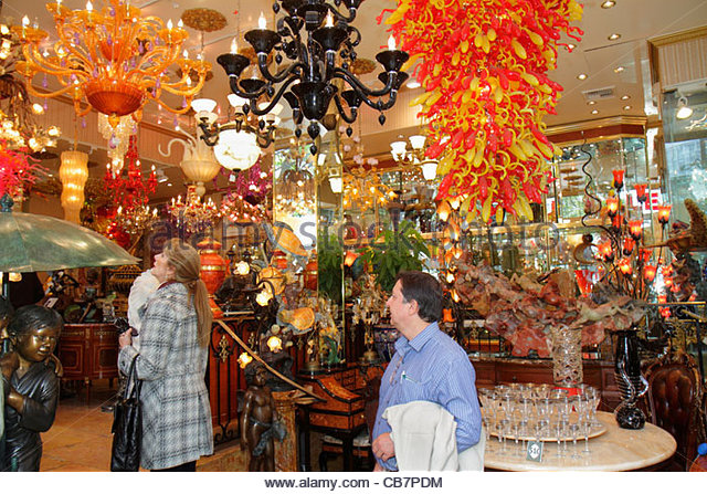 California San Francisco Chinatown Grant Avenue shopping Michael Fine Art and & Antique business furnishings - Stock Image