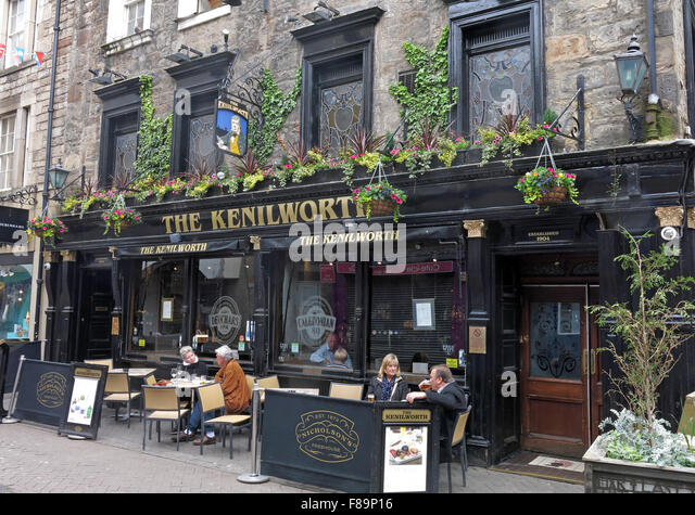 The Kenilworth,Pub Rose St,Edinburgh City Centre,Scotland,UK - Stock Image