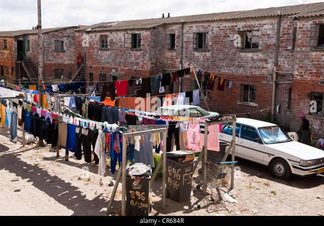 South Africa, Western Cape, Cape Town, the Township of Langa - Stock-Bilder